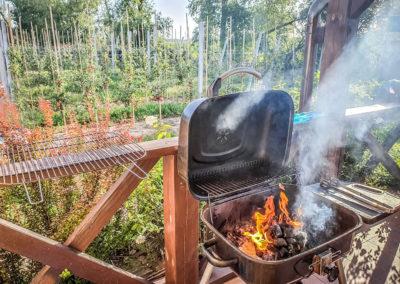 grill na tarasie Dworek Czersk