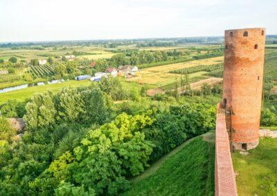 Zamek Czersk panorama